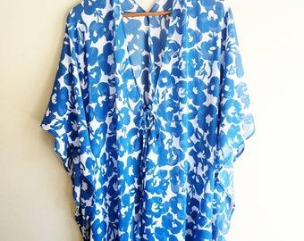 Boho Kimono, Summer Party, Beach Cover up, Long Kimono, Swimsuit Coverup, Chiffon Kimono, Festival Kimono, Summer Outdoors, Duster Kimono