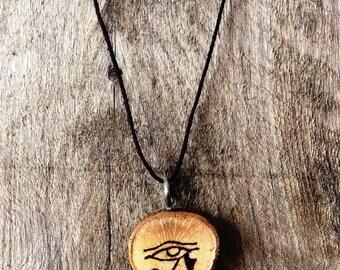 Live Edge Oak Pendant Necklace - Custom Burned