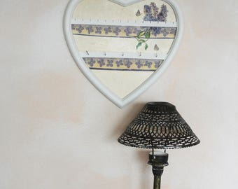 Romantic jewelry display - heart spring patterns - Shabby chic jewelry holder