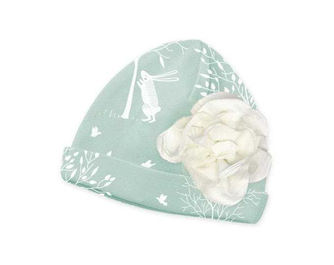 Easter Newborn Hat, Newborn Easter Bunny Baby Hat, Baby Hat Girls, Baby Girl Cap, Baby Girl Beanie, Bunny, Easter, Tesababe CP630BF001000