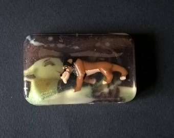 "Original  soap with toy / encrusted figurine "" SCAR & NALA "" The Lion King - Sweet almond fragrance"