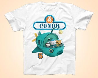 Octonauts Birthday Tshirt, Barnacle Birthday Shirt,  Peronalized Party Shirt
