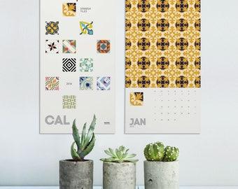 Spanishs Tiles 2018 Wall Calendar, Modernist Tiles, Christmas Gifts, Barcelona Tile, Wall Calendar, Barcelona Design, Wall Decor