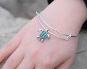 Turtle bracelet, Turtle Jewelry, Turtle Bangle, Beach Bracelet, Tortoise bangle, Turtle gifts, Beach bangle, Simple bracelet, Ocean bracelet