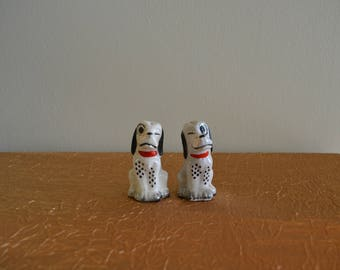 Vintage Winking Dalmations Salt and Pepper Shakers