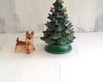 ceramic tree ceramic tree table tree light up christmas tree vintage ceramic tree small lighted vintage - Small Lighted Christmas Trees