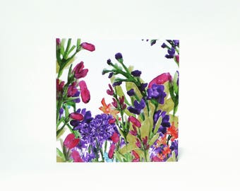 Floral fiesta greetings card for Birthday, Invitations, Thank you, Friends, Family, Colleague