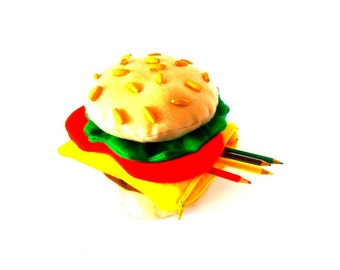 "Kit - ""THE Big Burger!"" - in felt and fabric"