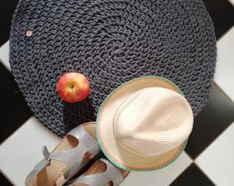 Organic Rug Linen Crochet Rug Flax Linen Carpetfloor
