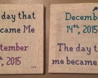 Birthday and Adoption Day Cross Stitch Set