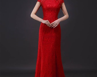 New Traditional Chinese Style Tea Ceremony/Wedding dress