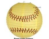 lanterne de partie de softball, en papier à suspendre, décoration, sports party supplies, décorations de l'obtention du diplôme, idées anniversaire filles, tombantes, joueur