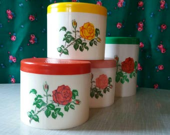 Set of stock buses, jewelry box, shabby chic, 70s kitchen, bathroom, plastic fantastic, camping, children's room, Flower power, roses, 70s