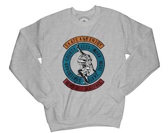 Skateboard sweatshirt skater sweatshirt longboard sweatshirt hipster sweatshirt vintage sweatshirt ride sweatshirt   AP24