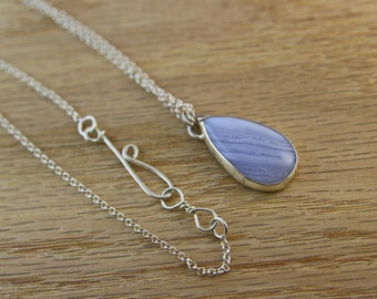 Agate necklace, Agate Pendant, Sterling silver, one of a kind, handmade, purple stone, elegant pendant, gift for her, silver pendant