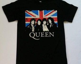 "Q U E E N† "" We Will Rock You"" -  Black - Unisex T Shirt Sizes S-2XL"
