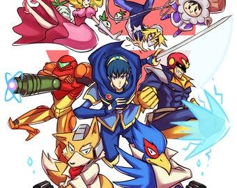 "Super Smash Bros. Melee 13x19"" Poster"