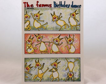 Vintage On A Lark/by Whitlark. Birthday Card. Andrews and McMeel