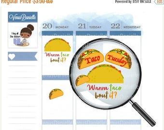 On Sale Taco Stickers,Taco Tuesday Planner Stickers, Taco Planner Stickers, Taco Planner