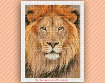 Lion Cross Stitch Pattern (Size 1) - Counted Cross Stitch Pattern