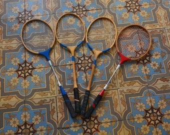 Vintage badminton racquets/ wooden rackets SPORTCRAFT and PIONNEER 70s