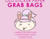 Old Sticker Paper Grab Bags