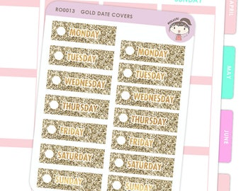 Date Covers - Gold / Planner Stickers