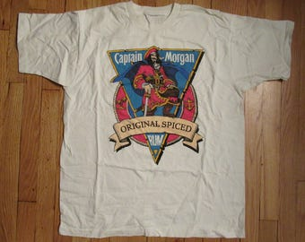 Captain Morgan Vintage Spiced Rum T-Shirt White with Logo