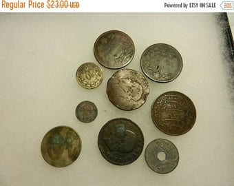 Summer Sale Vintage Grouping of Antique French Coins