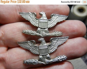 Summer Sale Vintage Post WW2 Sterling Silver Colonels Eagles