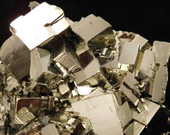 A Huge! AAA PYRITE Crystal CUBE Cluster From the Huanzala Mine Peru 1522gr