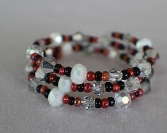 Ladybugs- Coil Bracelet