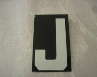 Vintage Sign Board Letter J 2 1/2 Inches By 1 1/2 Inches