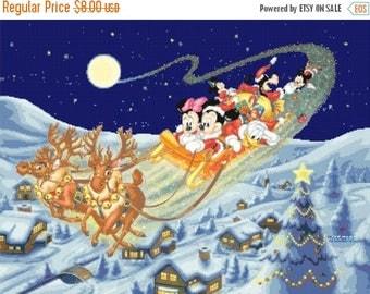 "mickey Cross Stitch mickey Pattern minnie cross stitch disney christmas pattern needlepoint - 23.64"" x 17.71"" - L1247"