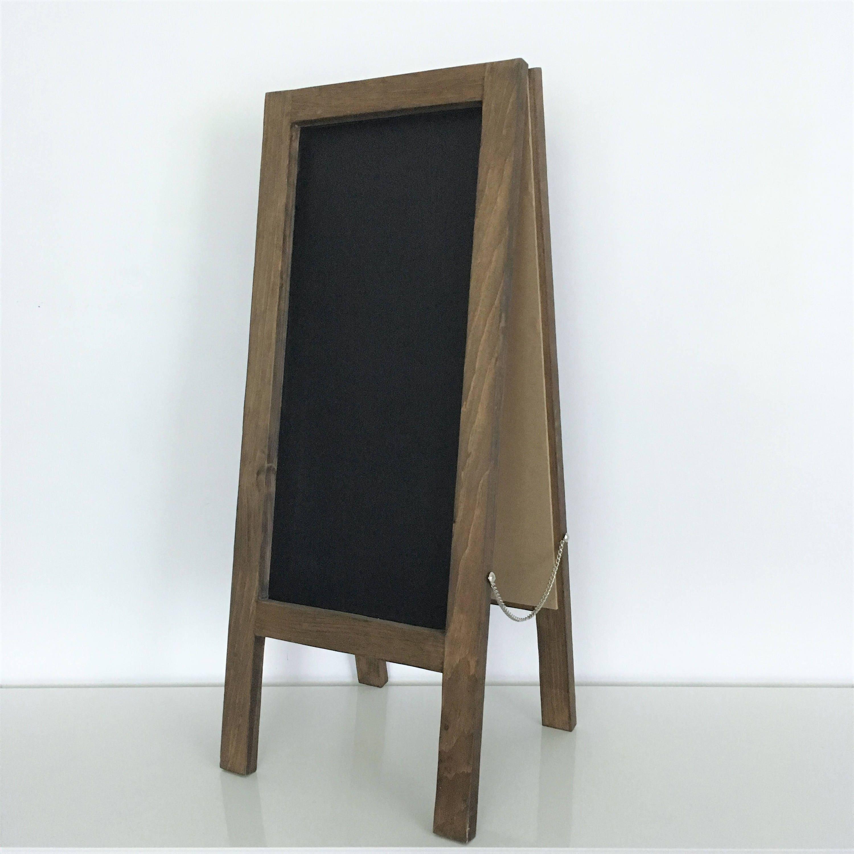 table top chalkboard sandwich board a frame double sided. Black Bedroom Furniture Sets. Home Design Ideas