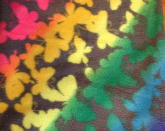 "Butterfly Polar Fleece fabic 28"" x 38"""