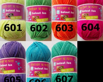"100g wool ""hatnut fun"" (7,00Euro/100g), super soft wool for hats and accessories"