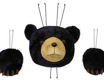 "3 Pc 13""H Black Bear Wreath Decor Kit/Wreath Supplies/Bear Wreath Kit/Fall Decoration/MD022802"