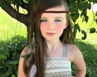 Feather Boho, Indian princess headband