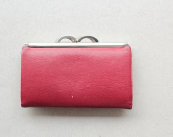 1960's Red Grained Leather Wallet