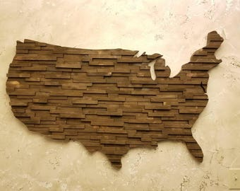 Reclaimed Wood Wall Art - United States