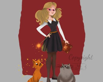 Custom Hogwarts Harry Potter Character Illustration - You As A Hogwarts Student!