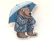 Rainy Day Bear Brooch