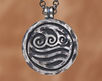 925 Sterling Silver Avatar Last Airbender Water Tribe Nation Necklace Pendant