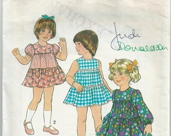 Toddlers' Tiered Dress  - Style Pattern 1146 - 1975 - Size 3