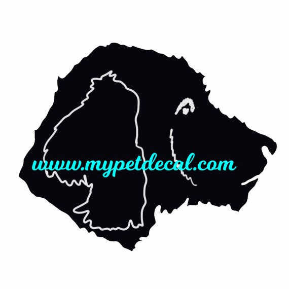 GOLDENDOODLE face decal for Yetis, cars, laptops, devices etc | FREE shipping