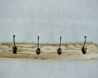 Old coat rack / vintage wall hooks /  home decoration / towel bar | West Germany | shabby