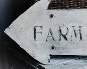 Vintage Farmer's Market Arrow Sign, Modern Farmhouse decor,  Fixer Upper Style, Arrow Sign, Wood Sign