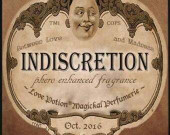Indiscretion w/ TMI & Cops - Halloween Collection 2016 - for Men and Women - Pheromone Enhanced Fragrance - Love Potion Magickal Perfumerie