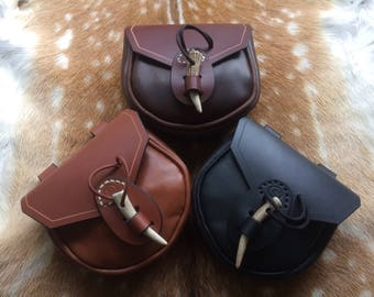 Leather Viking Style Possibles Pouch - Bushcraft / Re-enactment / LARP
